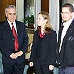 Karen and Uri Tannenbaum with President Katsav